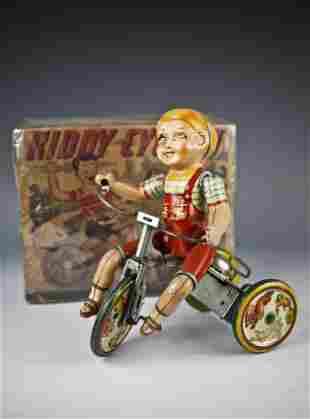 UNIQUE ART KIDDY CYCLIST WITH ORIGINAL BOX