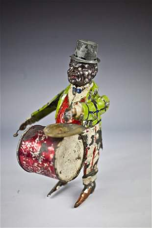 RARE Gunthermann Uncle Sam playing drum and cymbal 1900