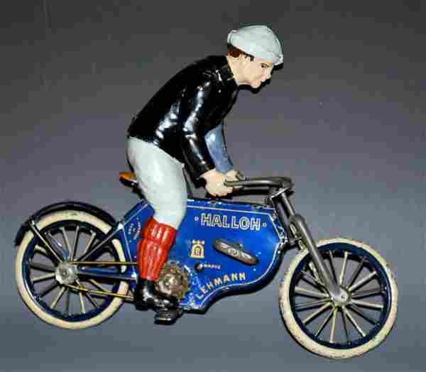 LEHMANN HALLOH RIDER ON CYCLE