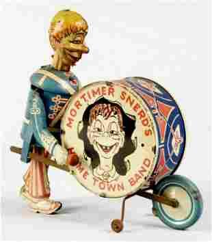 Tin Litho Marx Mortimer Snerd Home Town Band