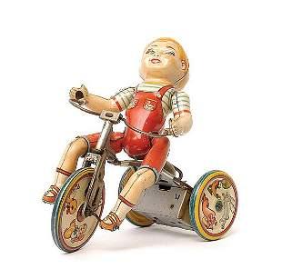 Unique Art of the USA Kiddy Cyclist Boy