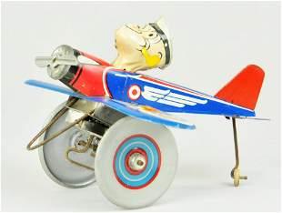 MARX POPEYE PILOT AIRPLANE