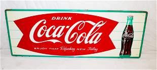 """1960's Coca Cola Fishtail Soda Pop 32"""""""