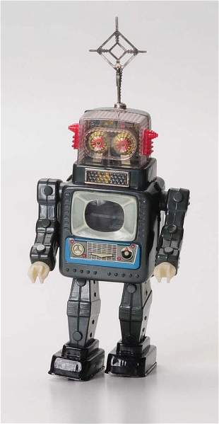 Japanese Tin Litho Television Robot.