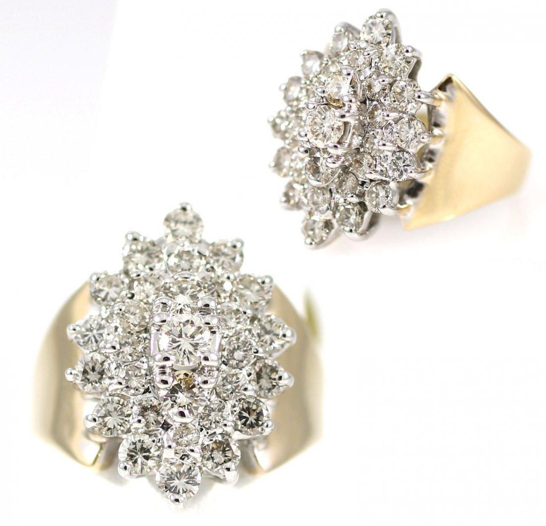 14kt Gold 2.75ct Diamond Ring GIA Certified