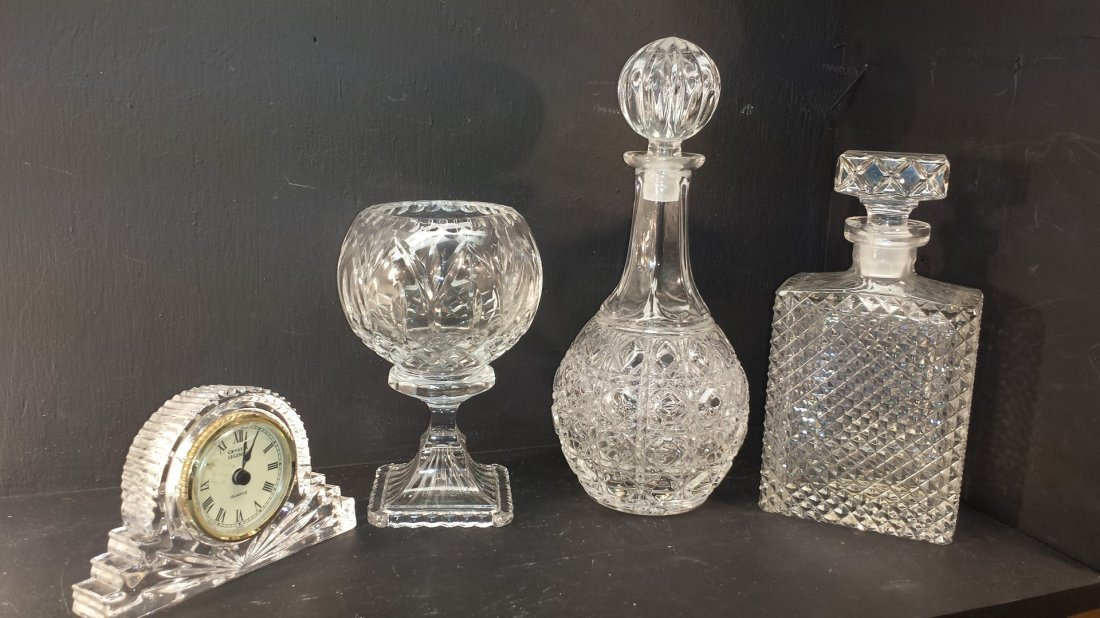 LOT OF 4 PEICE CRYSTAL