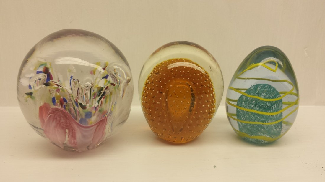 LOT OF 3 PAPERWEIGHTS