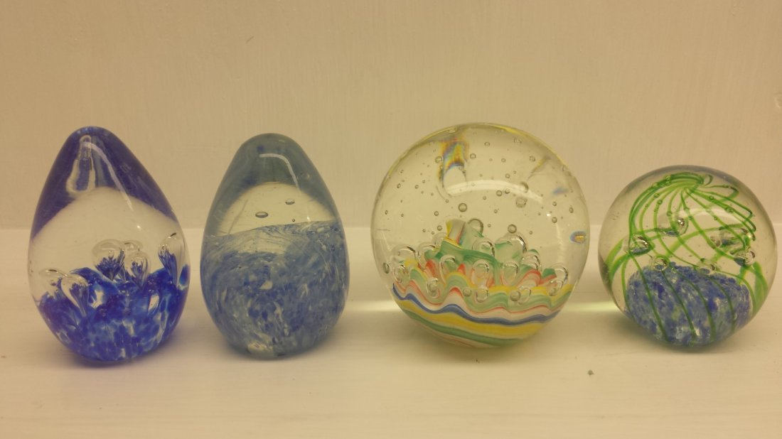 LOT OF 4 PAPERWEIGHTS