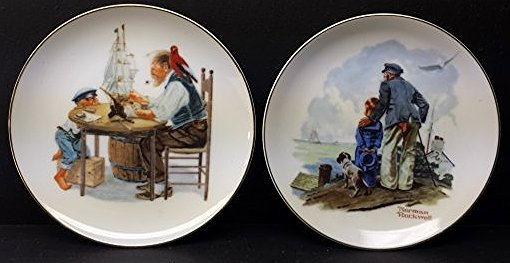 LOT OF 2 NORMAN ROCKWELL DECORATIVE PLATES