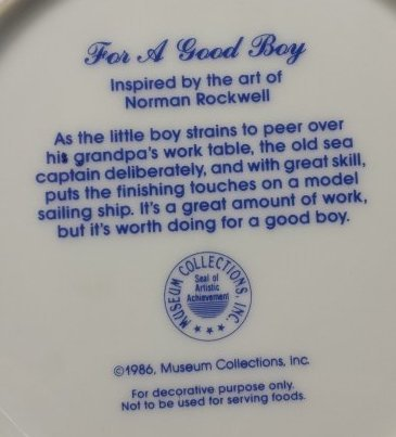 LOT OF 2 NORMAN ROCKWELL DECORATIVE PLATES - 5