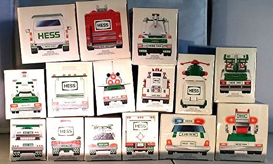 15 HESS TRUCK COLLECTION AND HELICOPTERS