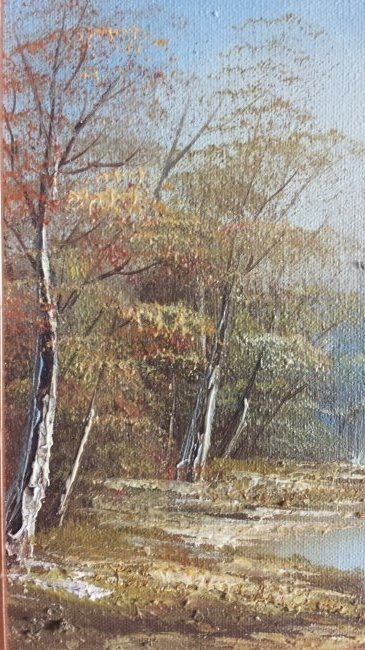 "VINTAGE SIGNED OIL PAINTING ON CANVAS "" CAINE"" - 4"