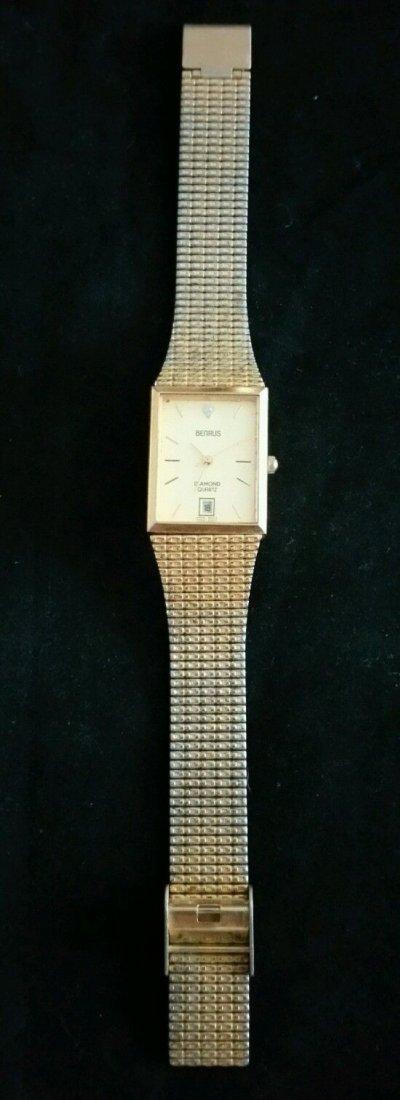Vintage Mens Benrus Diamond Quartz Japan Movement Watch