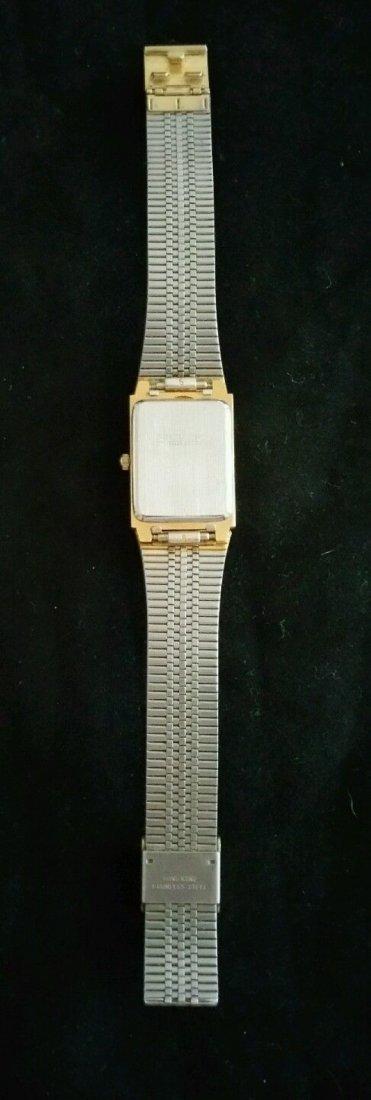 Vintage Mens Benrus Diamond Quartz Japan Movement Watch - 2