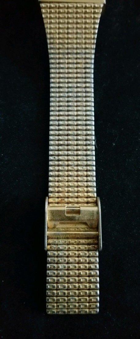 Vintage Mens Benrus Diamond Quartz Japan Movement Watch - 4