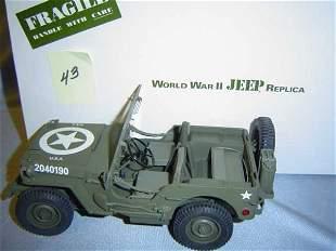 Danbury Mint World War II Jeep