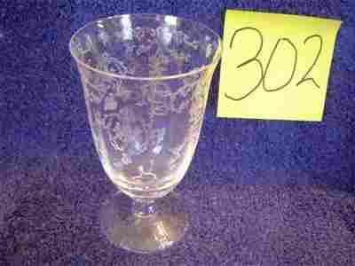 302: Fostoria Water Goblets - Navarre Pattern