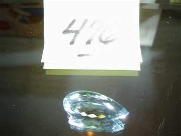 476: Pear-Shaped Faceted Natural Aquamarine (1)