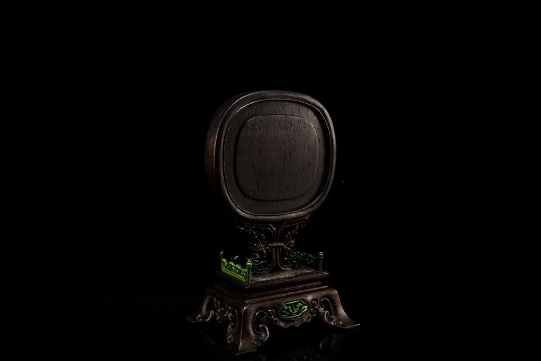 JADE OVAL MEDALLION CRANES TABLE SCREEN - 4