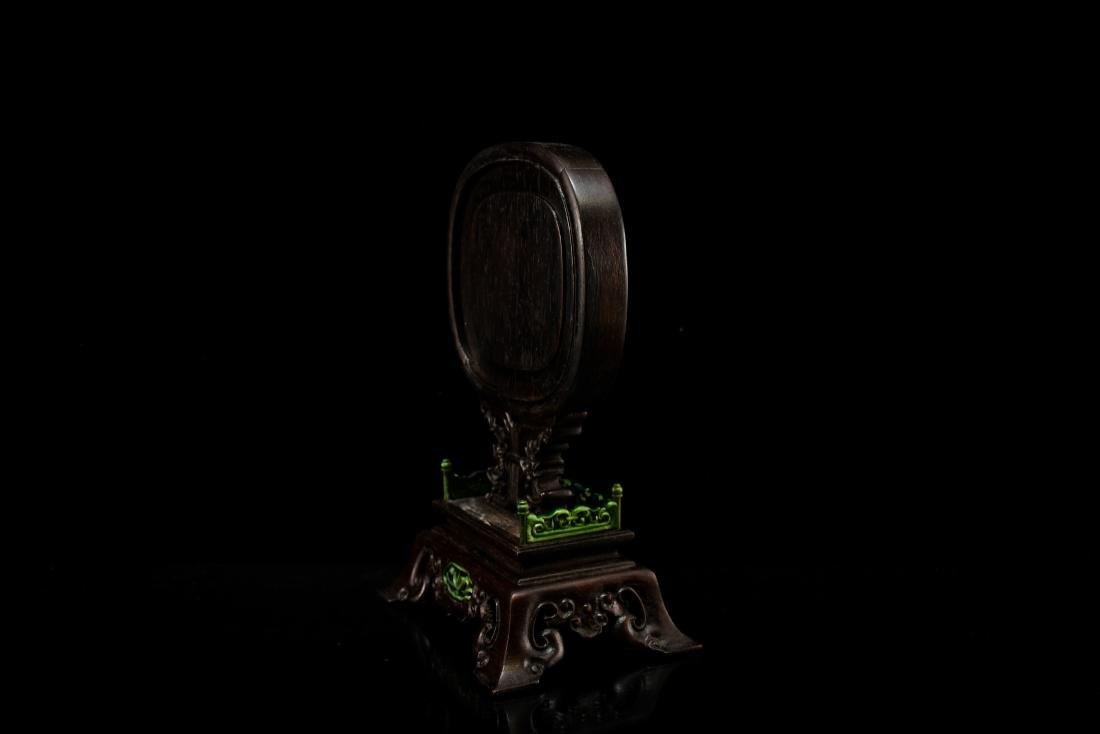 JADE OVAL MEDALLION CRANES TABLE SCREEN - 6