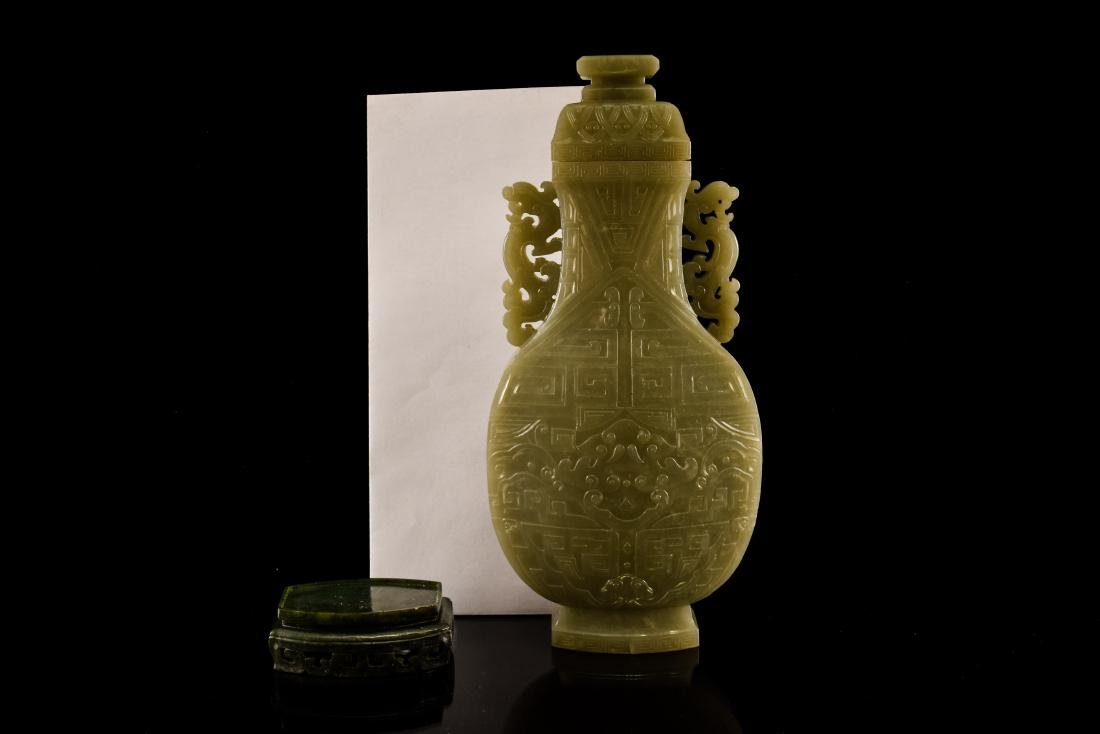 TAOTIE JADE URN INSIDE WOODEN BOX - 10