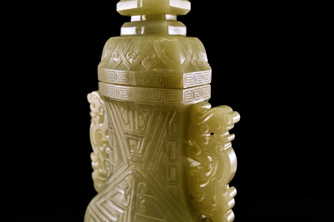 TAOTIE JADE URN INSIDE WOODEN BOX - 3