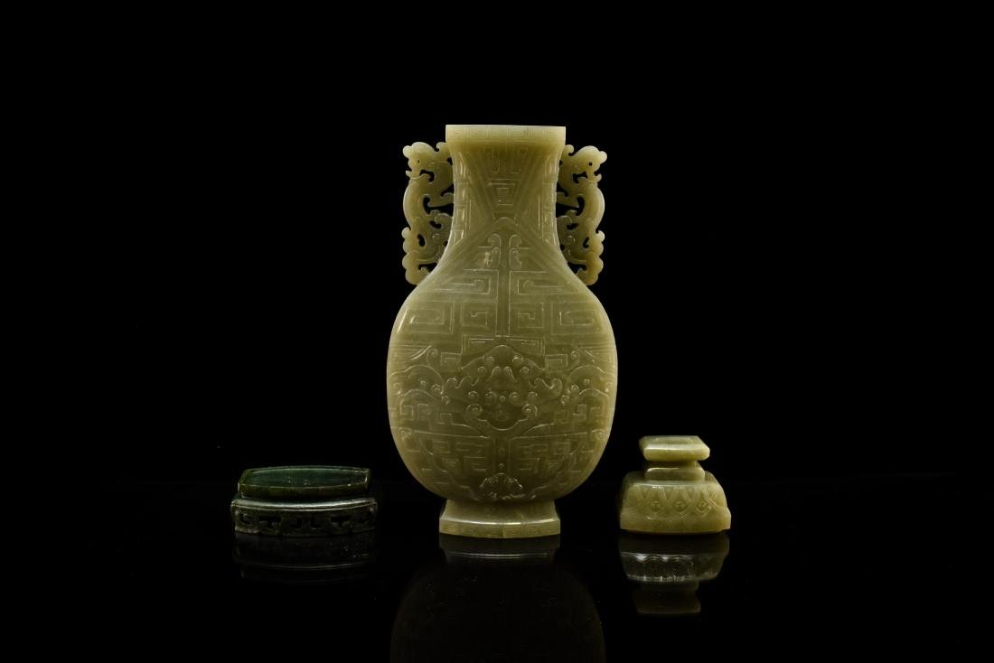 TAOTIE JADE URN INSIDE WOODEN BOX - 9