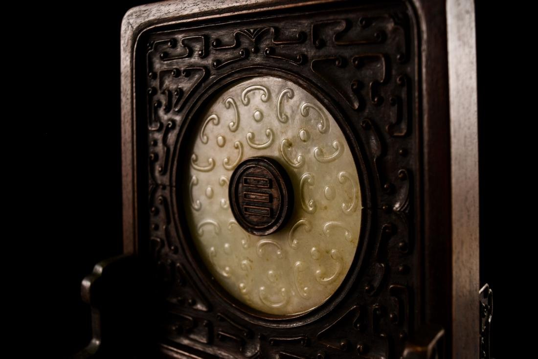 DOUBLE TAILED TIGER JADE TABLE SCREEN - 6