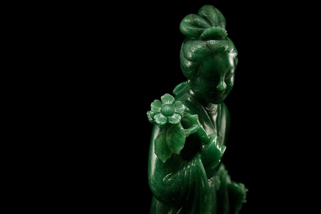 CHINESE DONGLING JADE OF STANDING GUANYIN - 11
