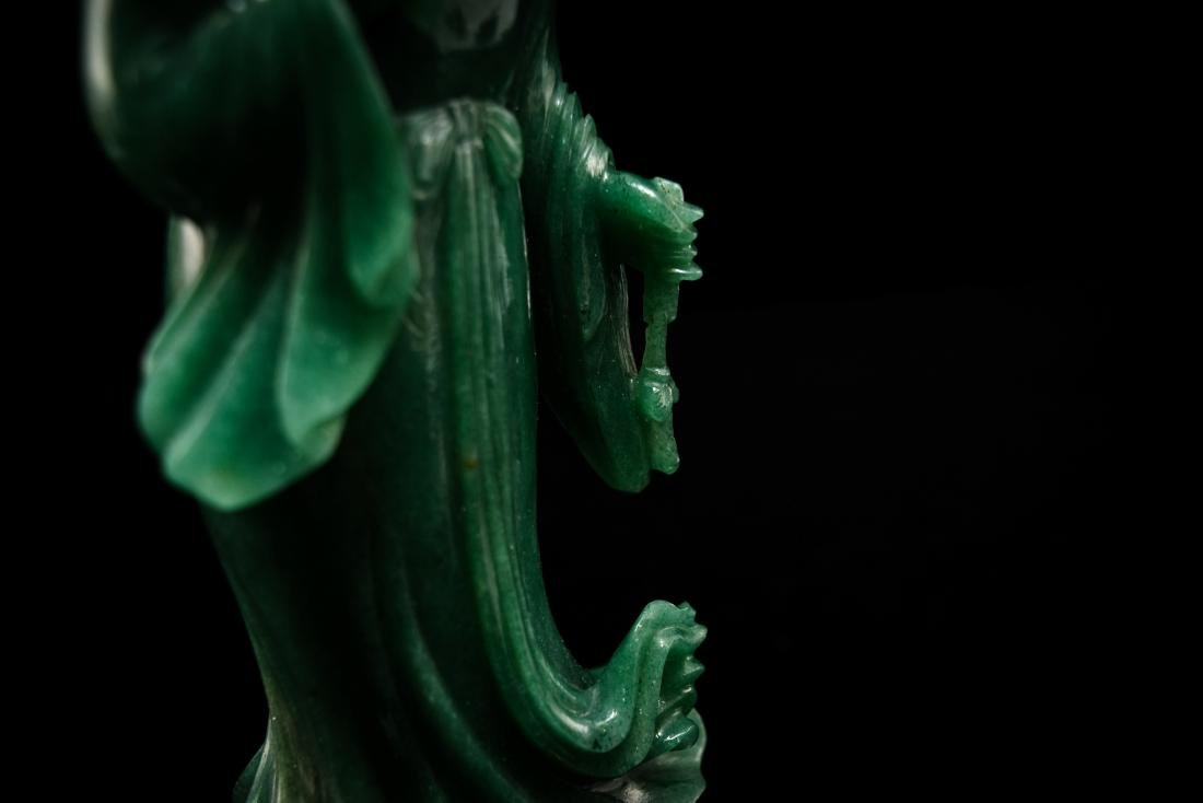 CHINESE DONGLING JADE OF STANDING GUANYIN - 12