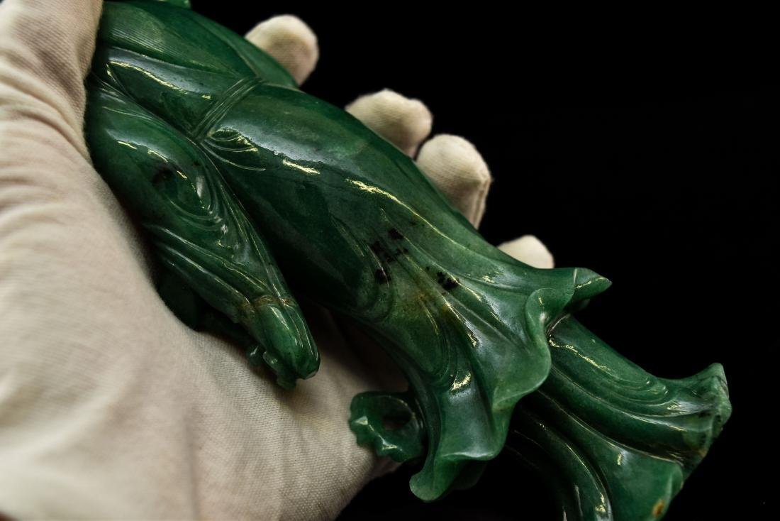 CHINESE DONGLING JADE OF STANDING GUANYIN - 13