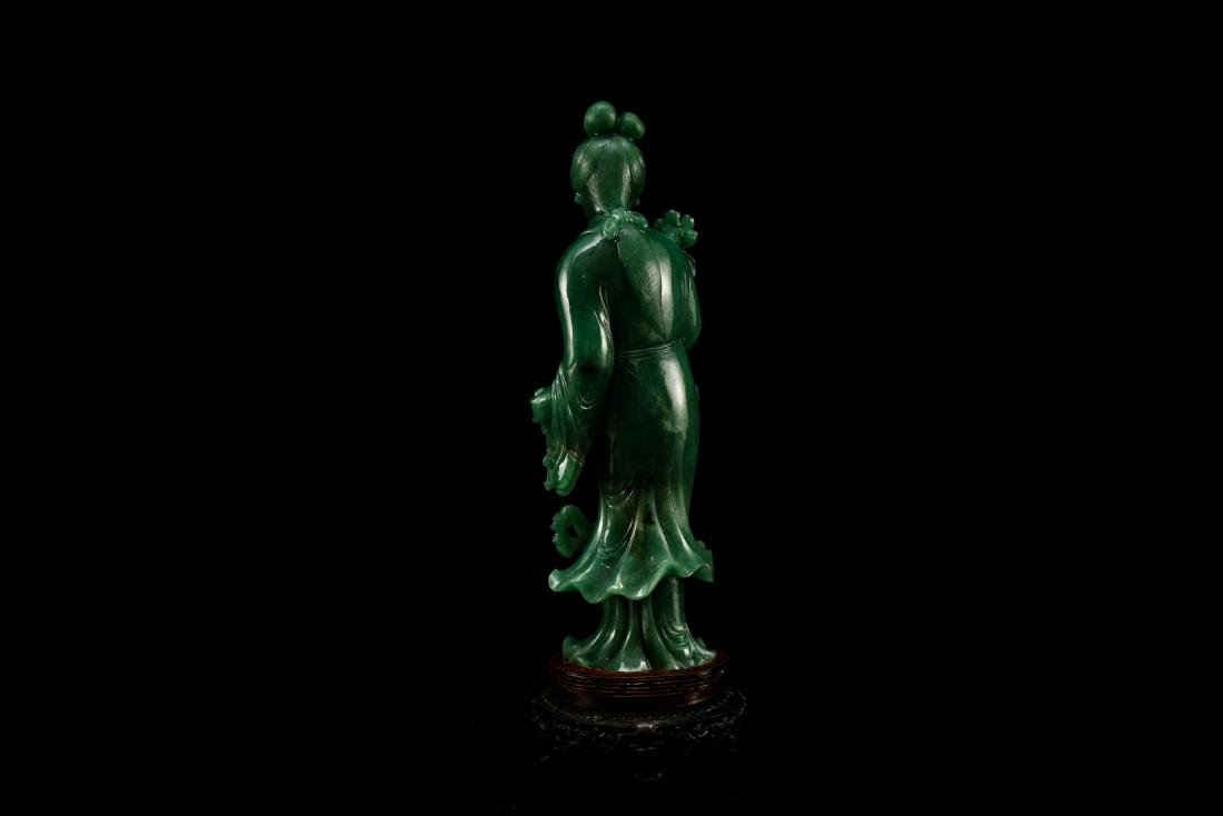 CHINESE DONGLING JADE OF STANDING GUANYIN - 4