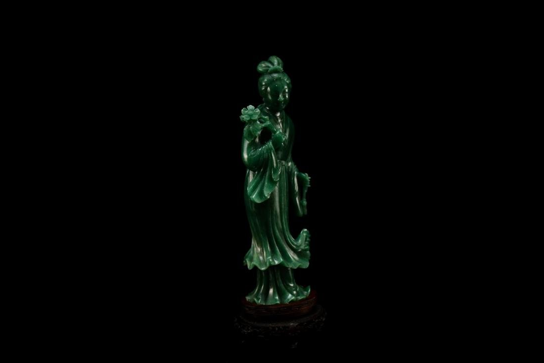 CHINESE DONGLING JADE OF STANDING GUANYIN - 6