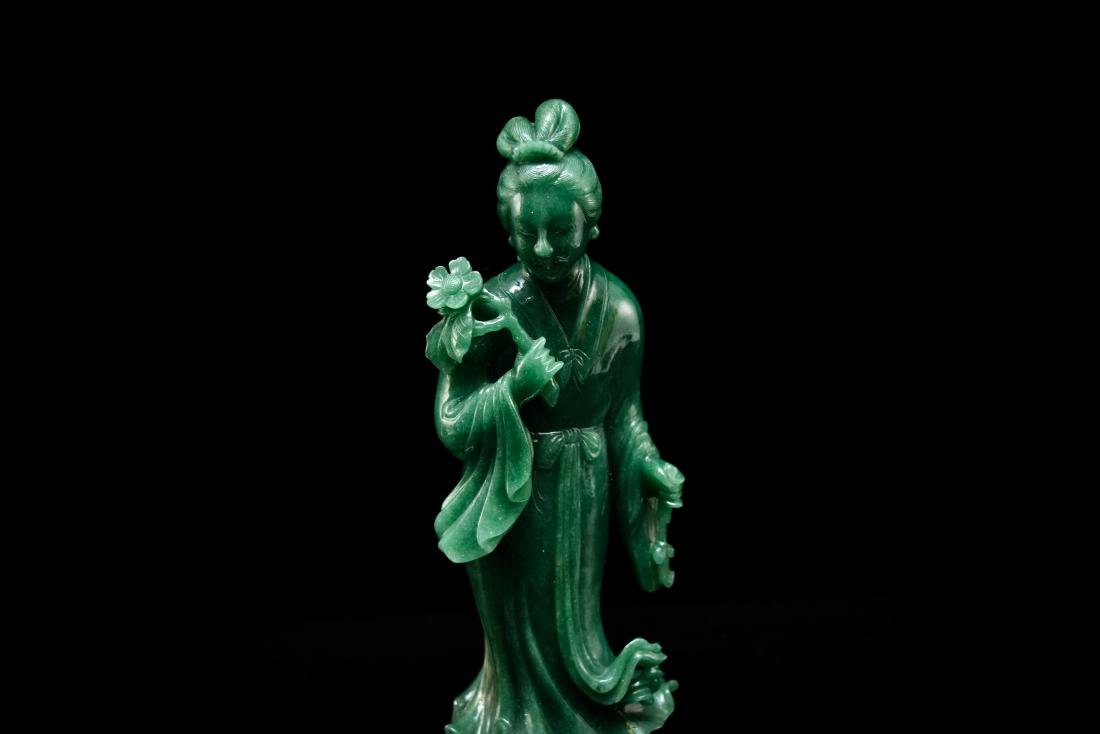 CHINESE DONGLING JADE OF STANDING GUANYIN - 8