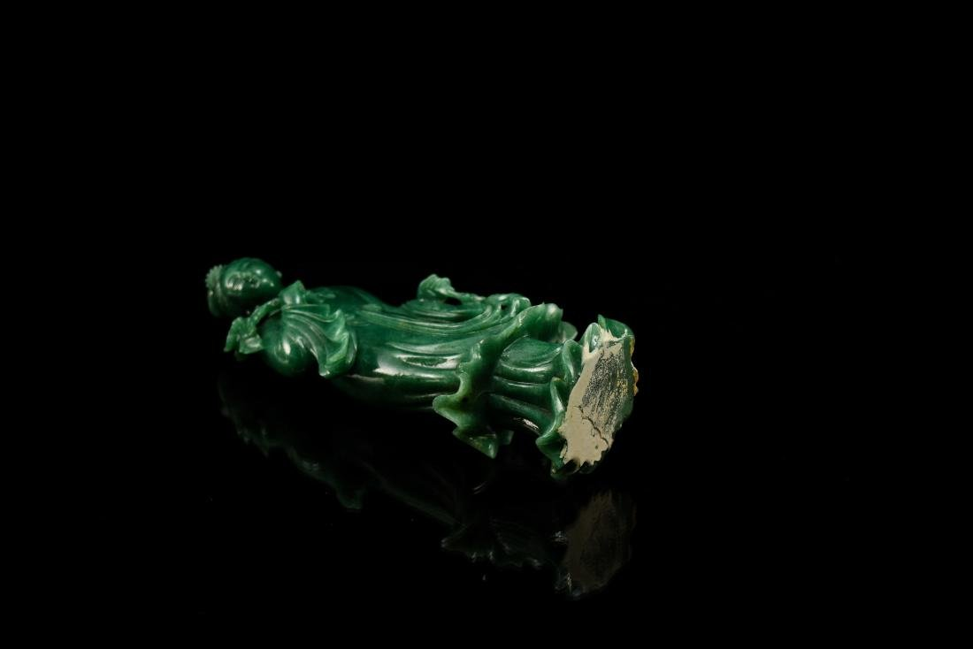 CHINESE DONGLING JADE OF STANDING GUANYIN - 9