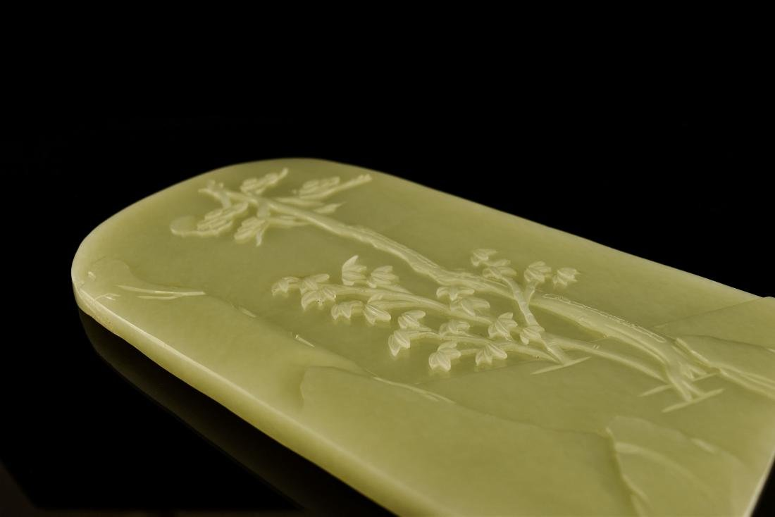 CHINESE LANDSCAPE JADE TABLE SCREEN - 10