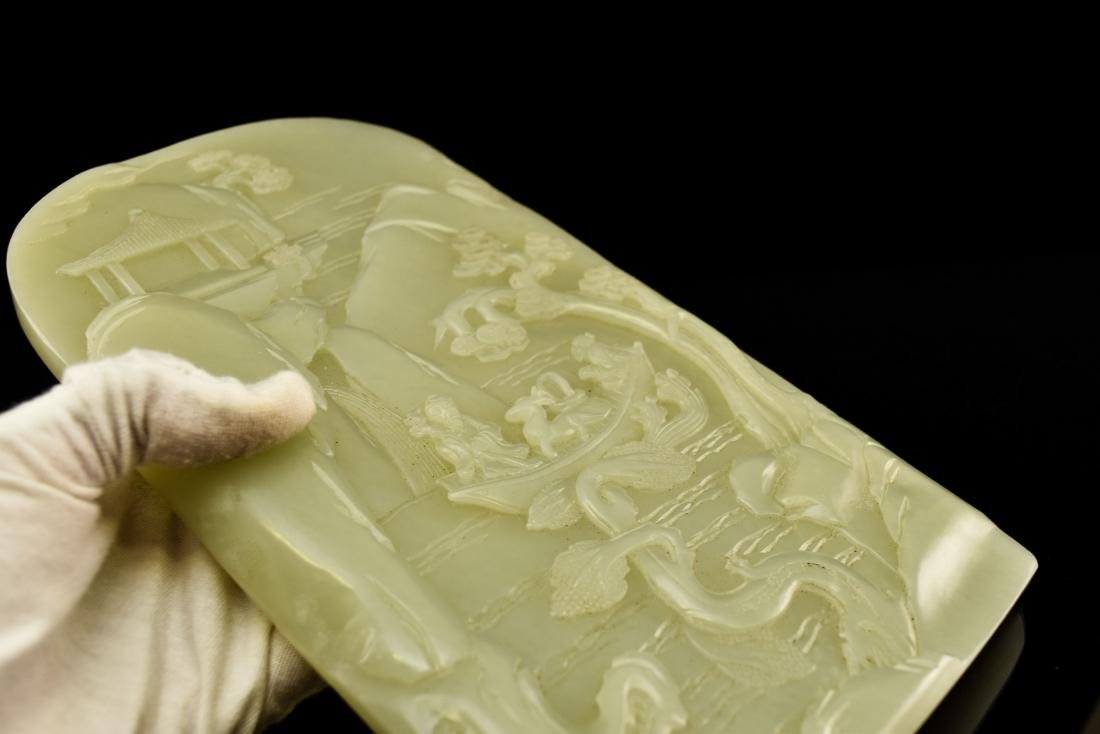 CHINESE LANDSCAPE JADE TABLE SCREEN - 11