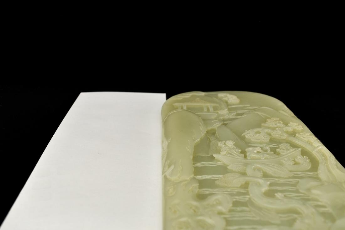 CHINESE LANDSCAPE JADE TABLE SCREEN - 14