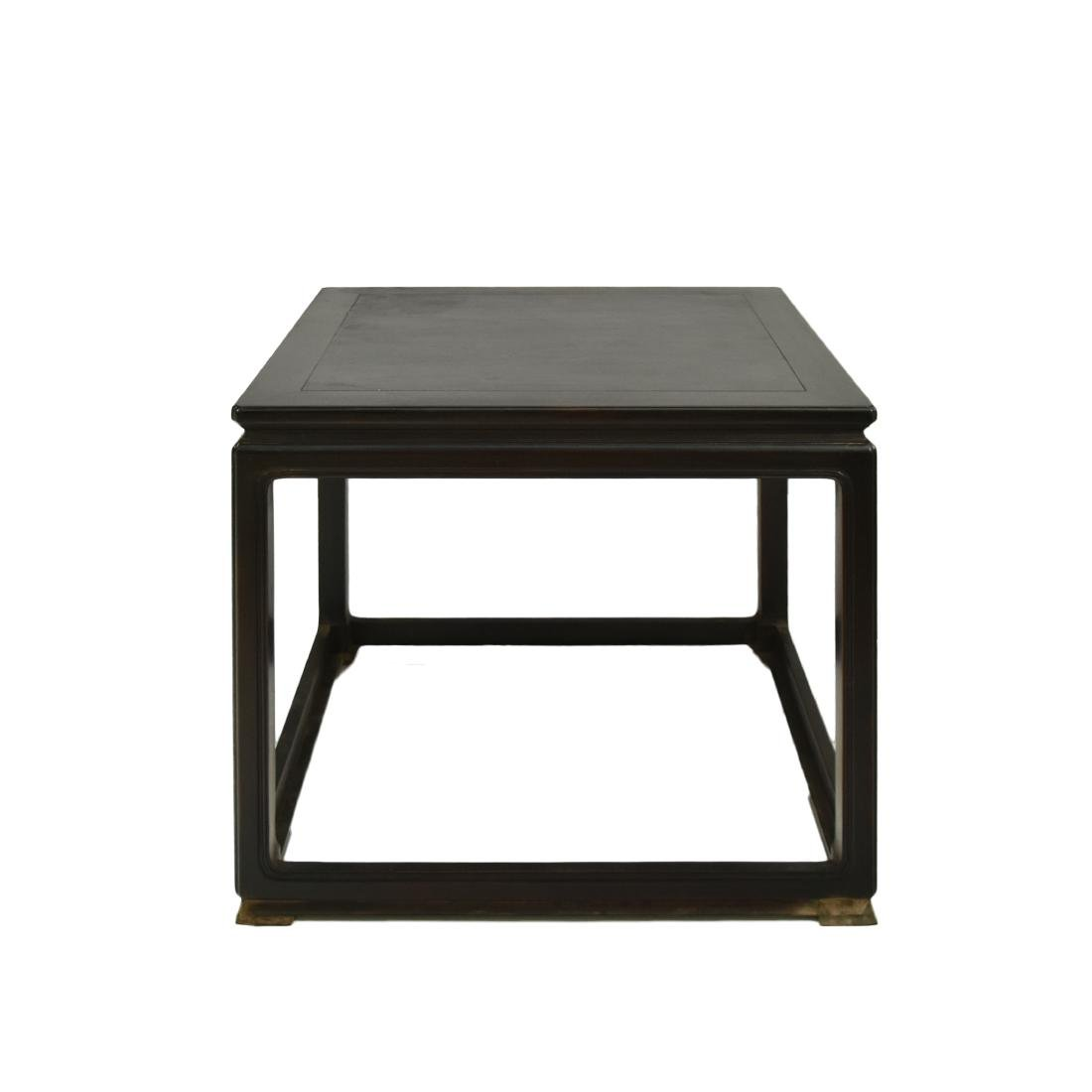 ANTIQUE ZITAN SQUARE TABLE WITH BOX SKETCHERS