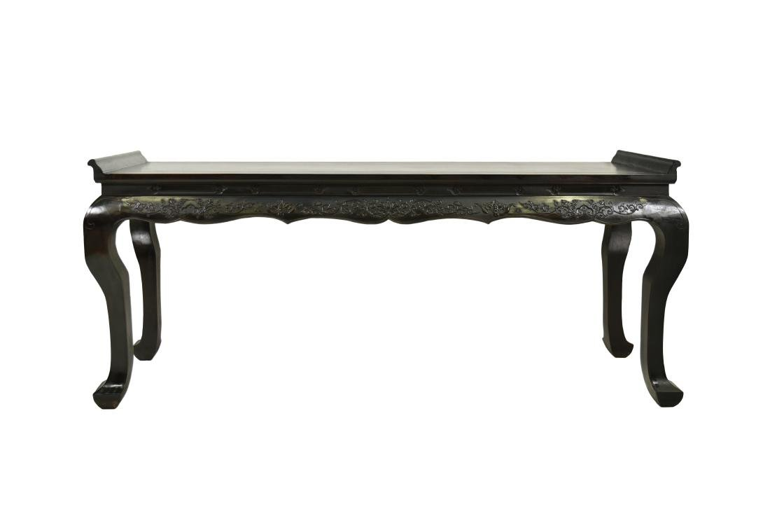 CHINESE ZITAN ALTAR TABLE WITH CABRIOLE LEGS