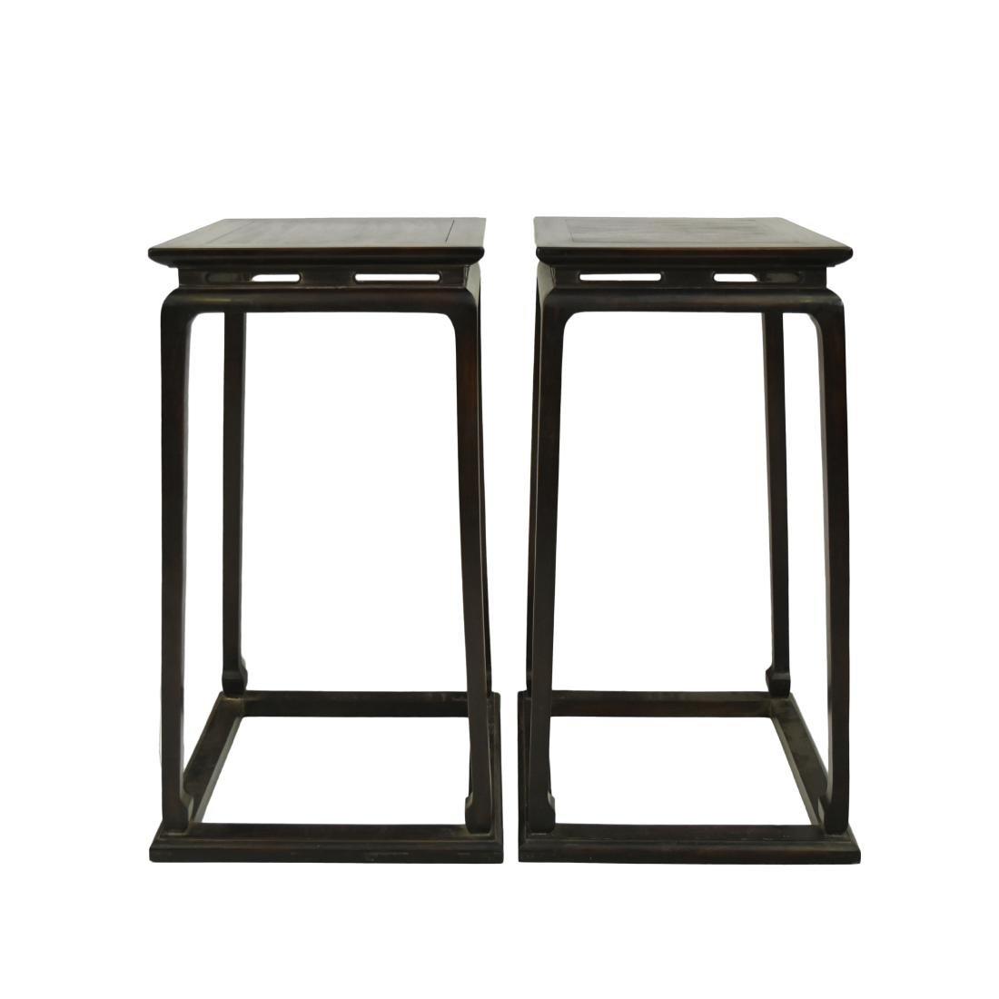 PAIR OF CHINESE ZITAN PLANT STANDS