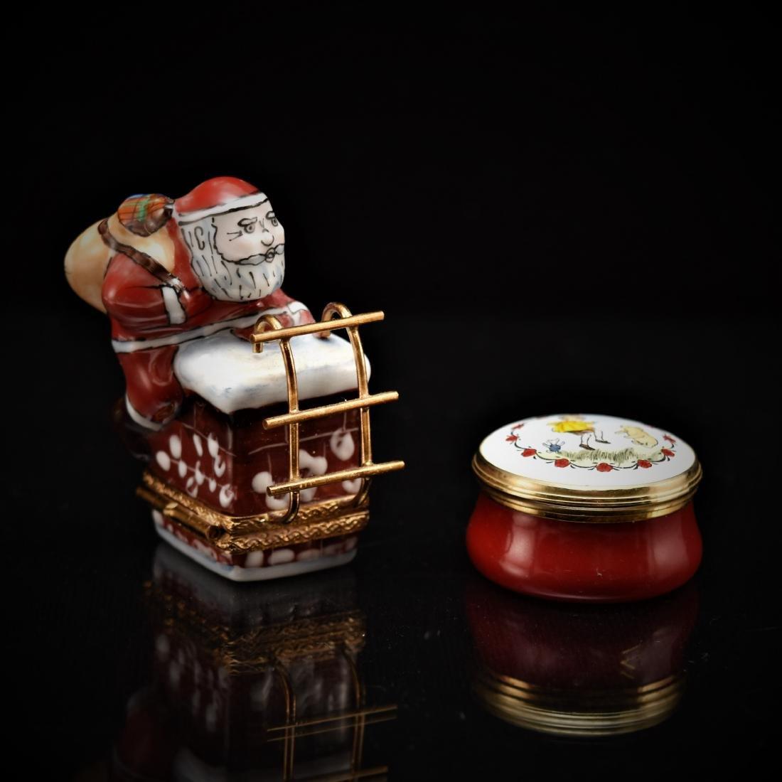 LIMOGES AND MINI PORCELAIN JAR