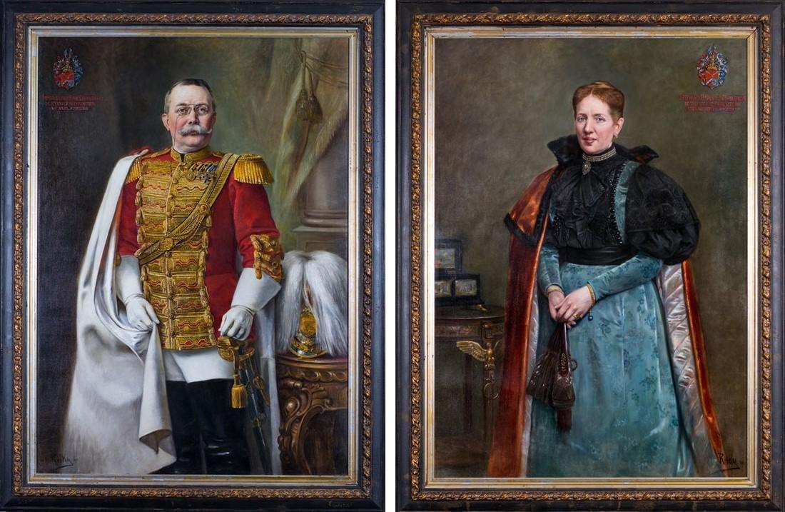 HANNA VON ROTHKY , PAIR OF BARON & BARONESS 1861-1934