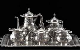 1920TH C SET OF 6 PCS FRANK WHITING SILVER TEA SETS