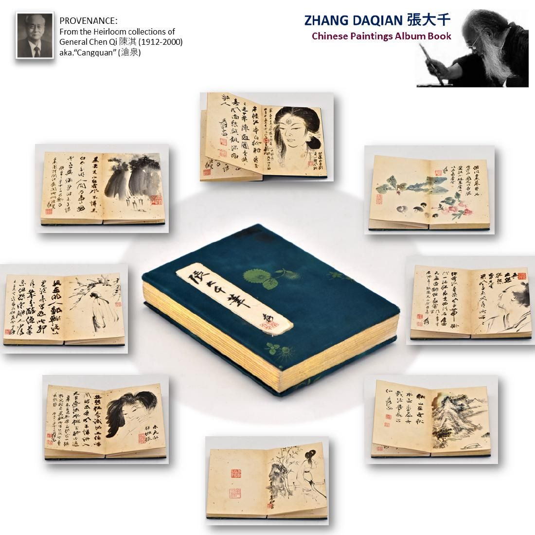 ZHANG DAQIAN PAINTING ALBUM BOOK