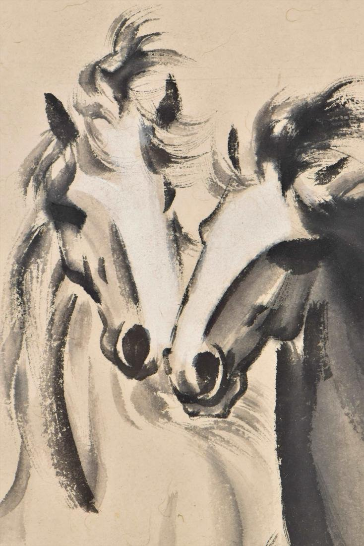 XUBEIHONG, FRAMED PAINTING 'TWO GALLOPING HORSES', 1943 - 11