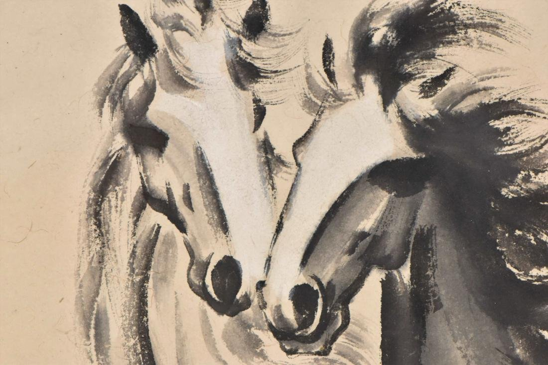 XUBEIHONG, FRAMED PAINTING 'TWO GALLOPING HORSES', 1943 - 6