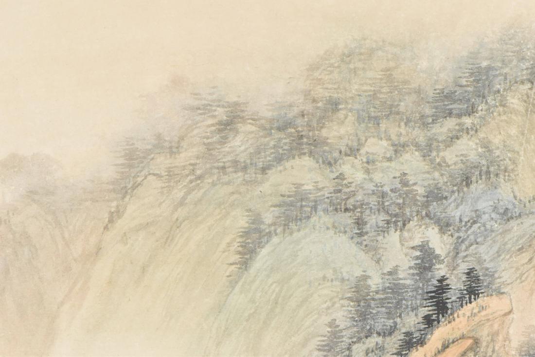 WU HUFAN, FRAMED LANDSCAPE PAINTING - 13