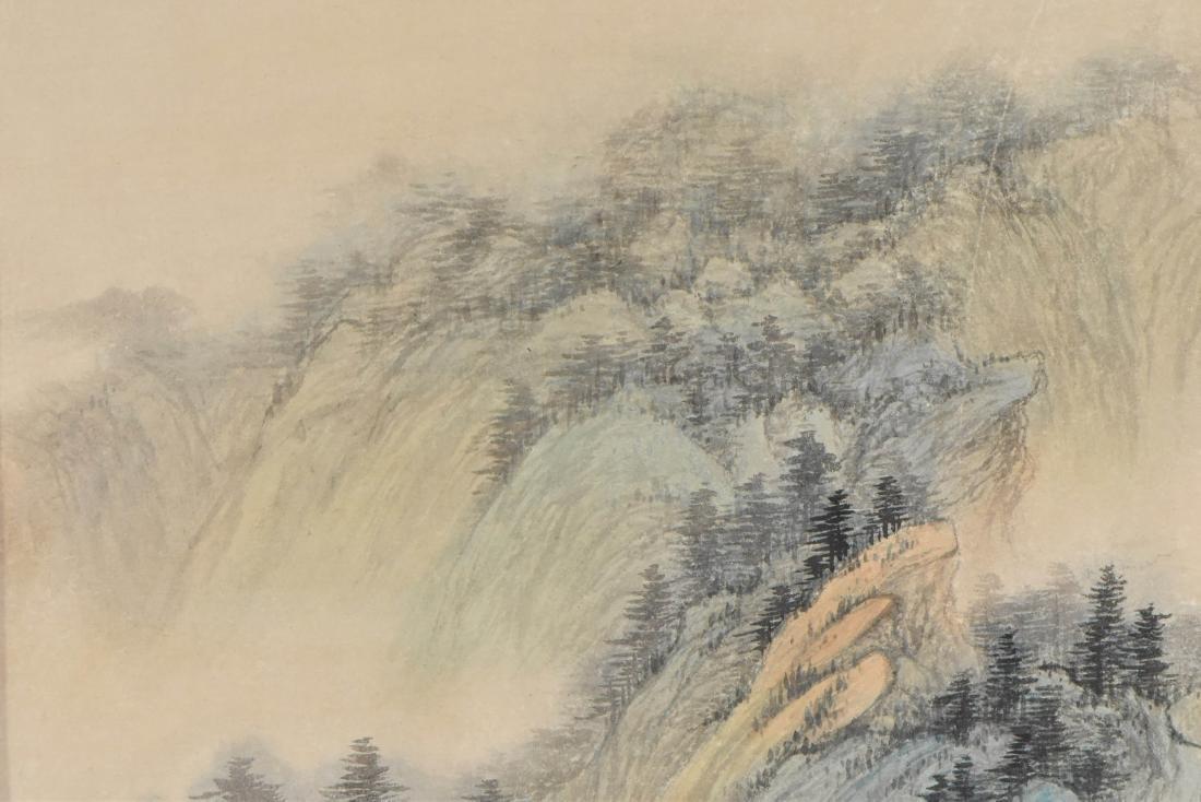 WU HUFAN, FRAMED LANDSCAPE PAINTING - 6