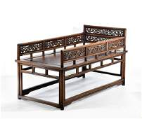 18/19TH C RARE HUANGHUALI BABY BED